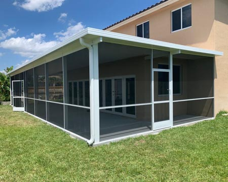 screens aluminum poll patio enclosure