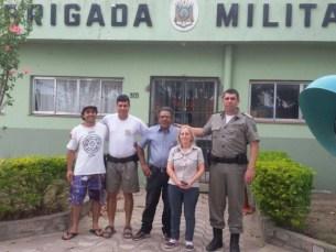 Família de Diego visitou o soldado que auxiliou seu salvamento