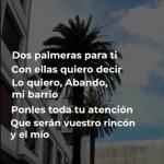 Letra de dos palmeras para ti en vídeo