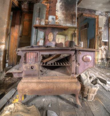 Old stove, seen in an abandoned Catskills farmhouse Photo by Andy Milford