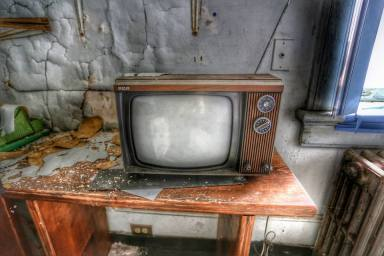 RCA TV, seen in an abandoned home for the aged, Dutchess County NY Photo by Liz Cooke