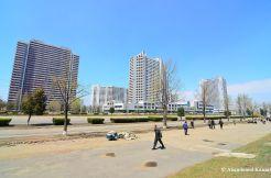High-Rise Apartment Buildings In Pyongyang