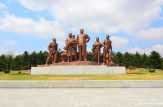 Kim Il-sung And Farmers Statue