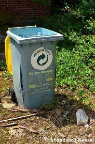 Abandoned Recycling Bin