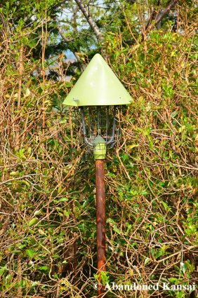 Abandoned Rusty Outdoor Lamp