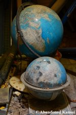 Abandoned Globes At A Deserted Japanese School