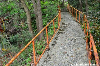 Concrete Path Leading Up The Mountain