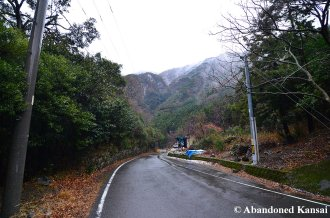 Japanese Mountain Road On An Early Winter Day