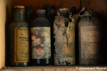 Really Old Bottles Filled With Chemicals