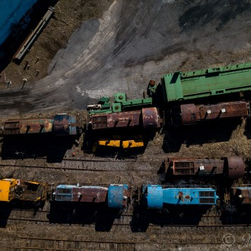 Railroad Locomotive Graveyard