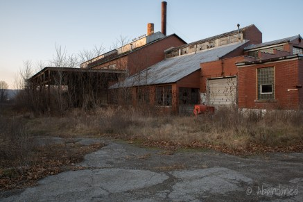 Abandoned factory in Belmont, New York.