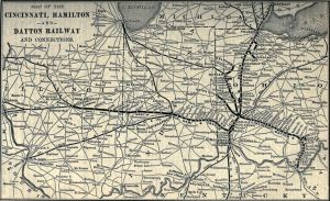 Cincinnati, Hamilton & Dayton Railroad Map