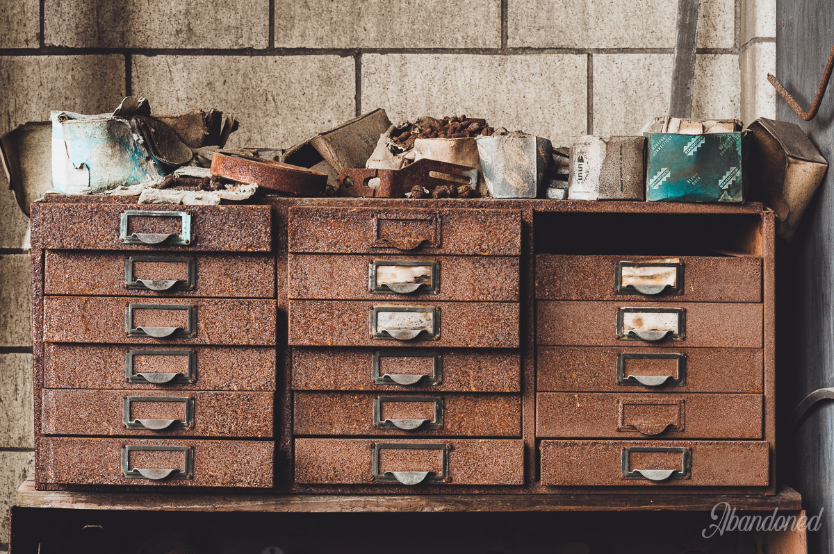 Hudepohl Brewing Company Rusty Drawers