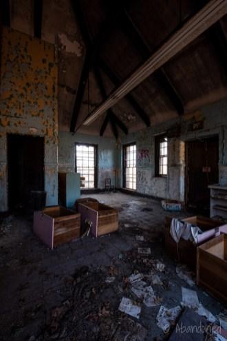 Inside Stephen Bowen Hall at Fernald State School