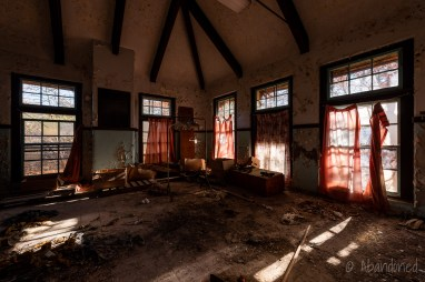 Inside Stephen Bowen Hall at Fernald State School