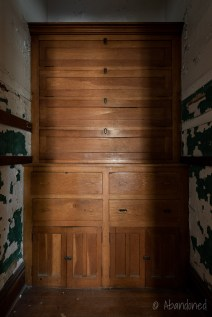 Ohio State Reformatory Drawers in Closet