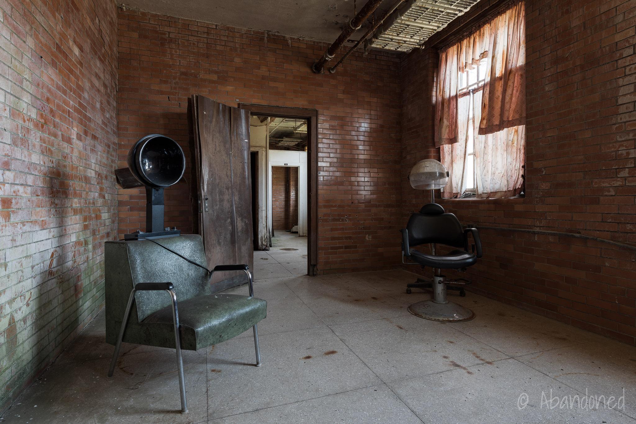 Trans-Allegheny Lunatic Asylum Abandoned Hairdresser Equipment