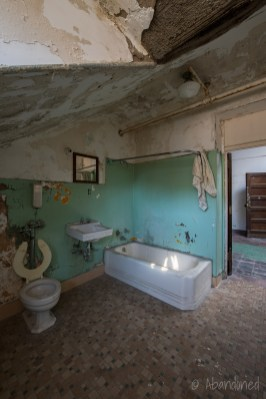 Trans-Allegheny Lunatic Asylum Bathroom with Toilet, Sink and Bathtub