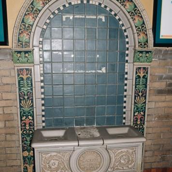 Lafayette-Bloom School Rookwood Tile Fountain