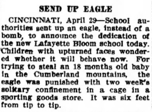 Lafayette Bloom School News Clipping