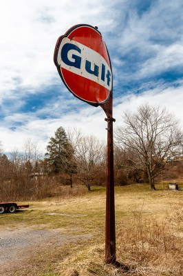 Gulf Gasoline Station Sign