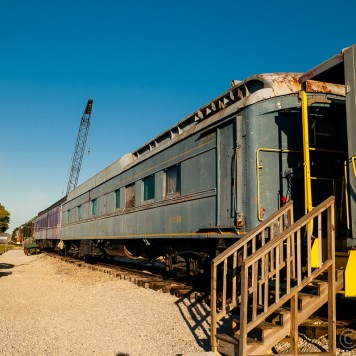 A view of a passenger car on display at the Bluegrass Railroad Museum in Versailles.