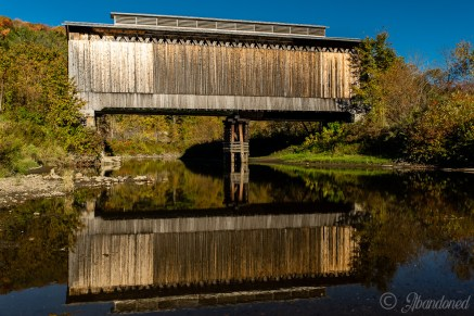 Fisher Covered Bridge along the former St. Johnsbury & Lamoille County Railroad