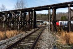 Chesapeake & Ohio Railroad Gauley Subdivision at Belva