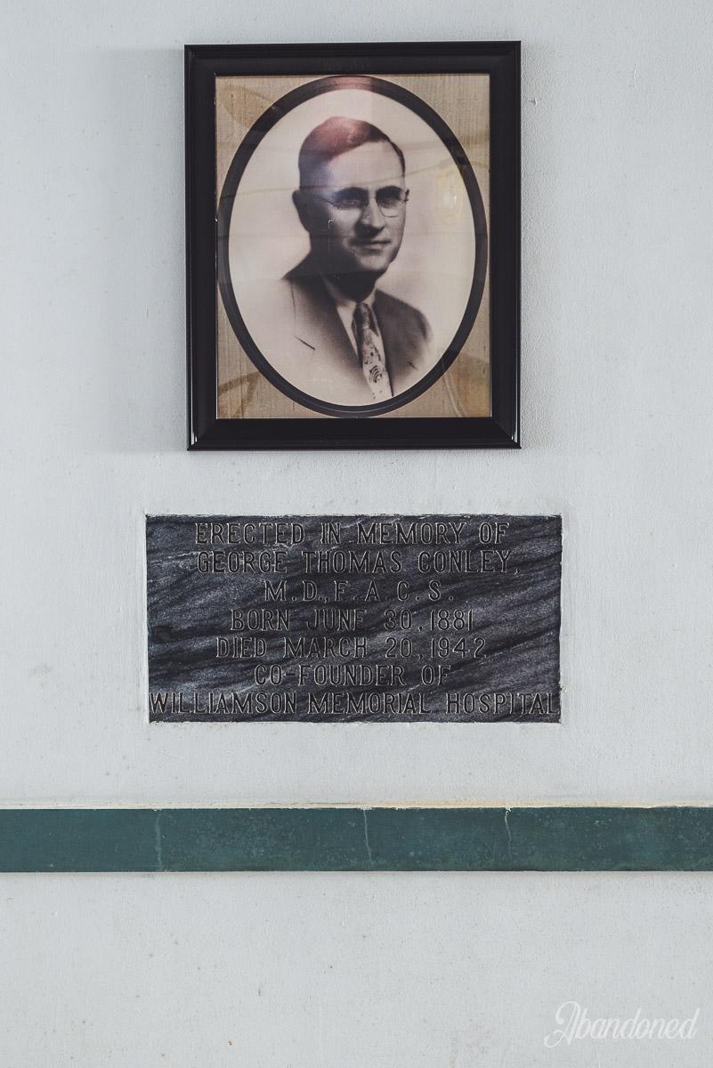 George Thomas Conley, Co-Founder of Williamson Memorial Hospital