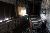 Inside fire damaged concession stand