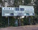 Hinchliffe Stadium electric scoreboard