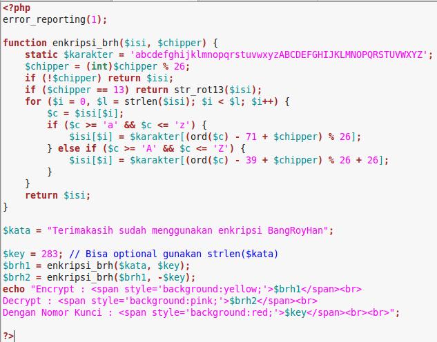 Kombinasi enkripsi base64 dengan rot13