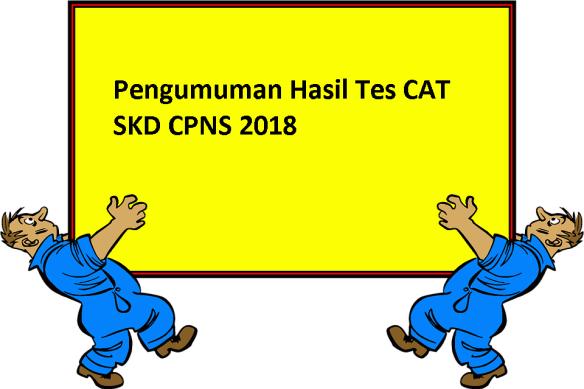 Pengumuman Hasil Tes CAT SKD CPNS 2018