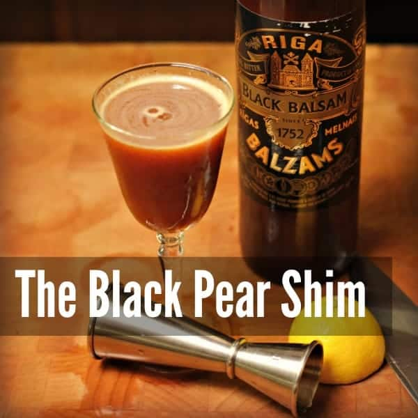 The Black Pear Shim: Mixology Monday 91