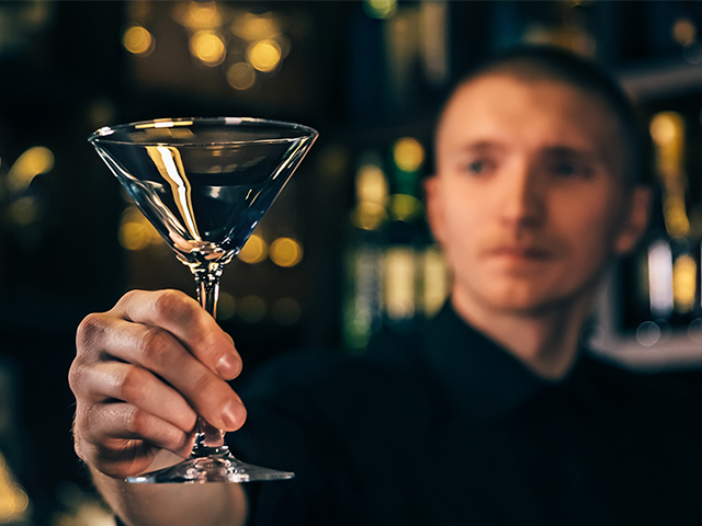 Bartender with Glass