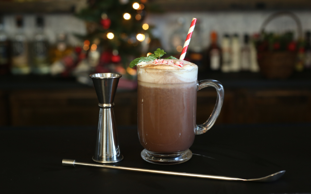 Hot Chocolate With Peppermint Schnapps A Bar Above