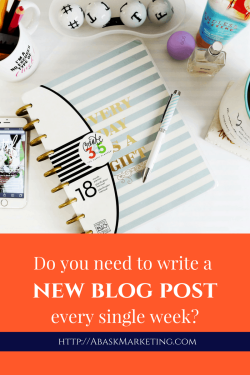 Do I need to write a new blog post every week?