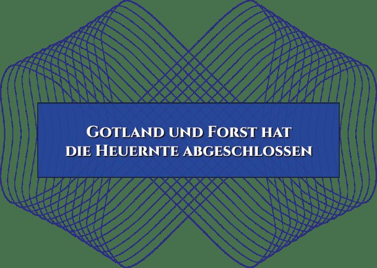 Gotland und Forst hat die Heuernte abgeschlossen