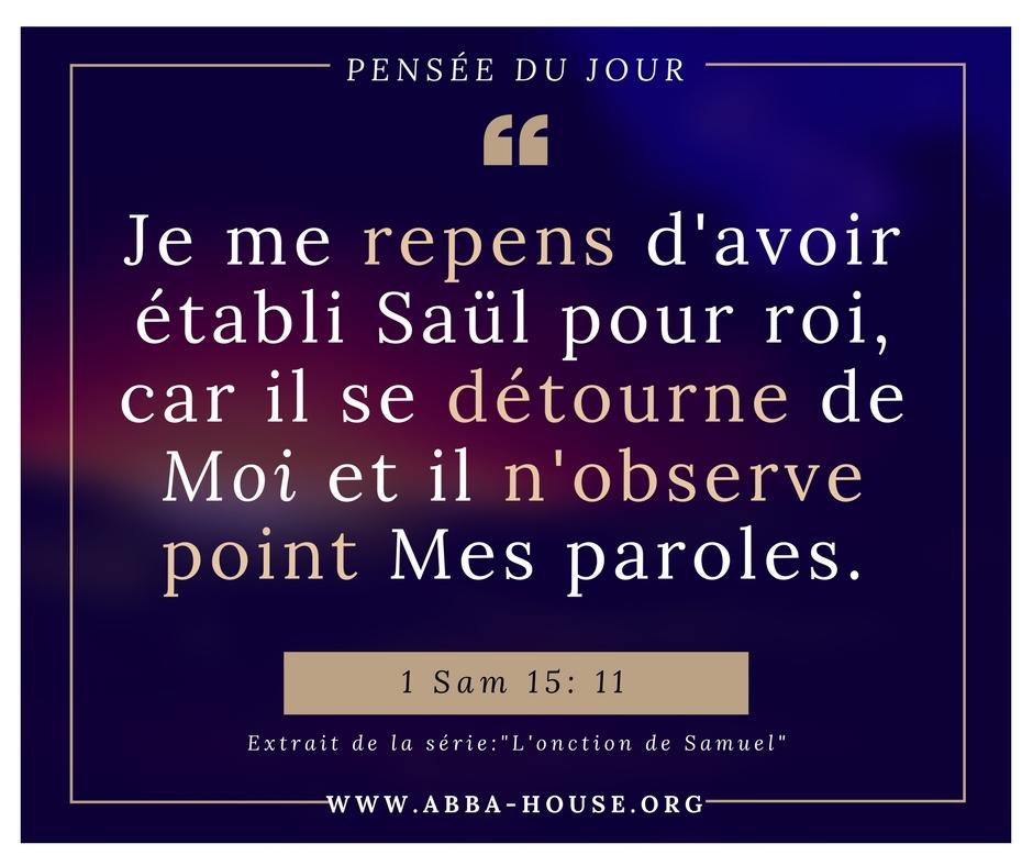 Verset biblique série message onction Samuel