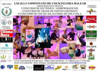 Resultados del LXI Campeonato de coctelería Balear