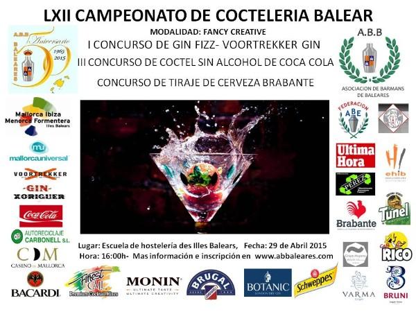 Resultados del LXII Campeonato de coctelería Islas Baleares