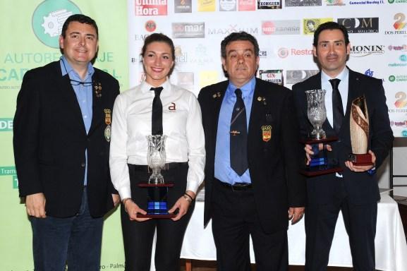 Los campeones con Luis Marti y Antonio Barea