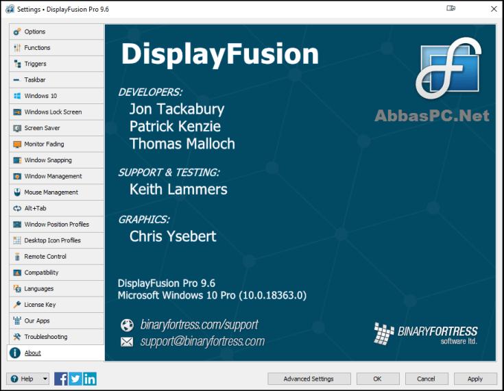 DisplayFusion Pro Serial Key Download
