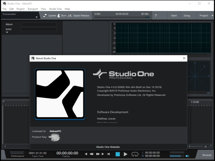 PreSonus Studio One Pro Activation Code Download