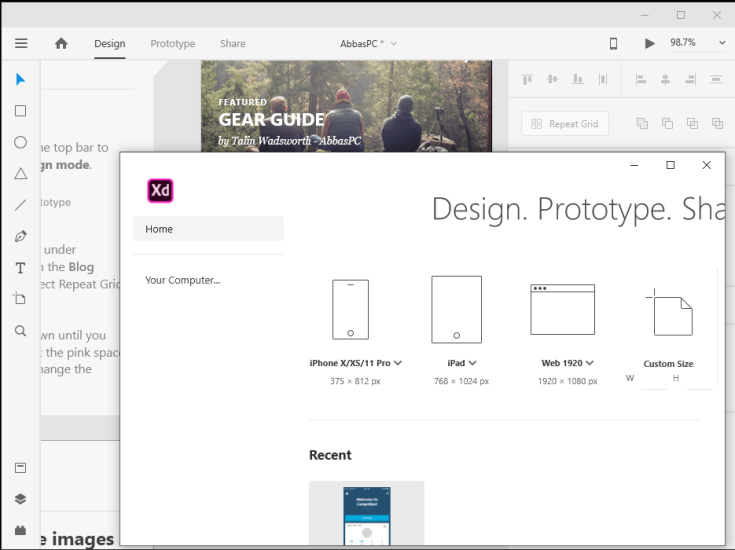 Adobe XD CC Free Download for PC