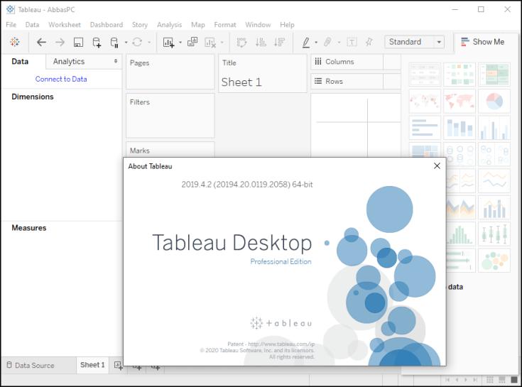Tableau Desktop Professional Edition Serial Key