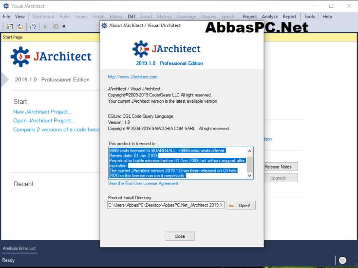 JArchitect License Key Download