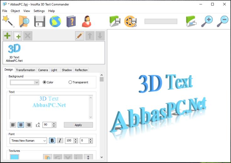 Insofta 3D Text Commander License Key Download
