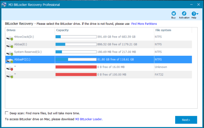 M3 Bitlocker Recovery Professional License Key