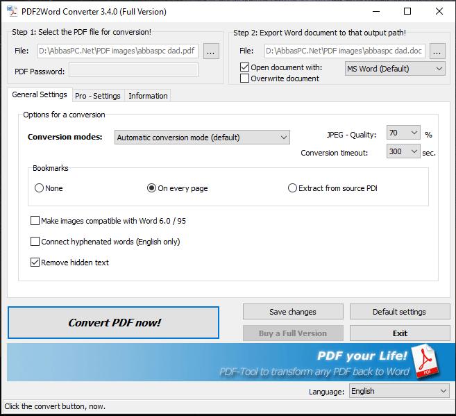 7-PDF PDF2Word Converter for Windows Download